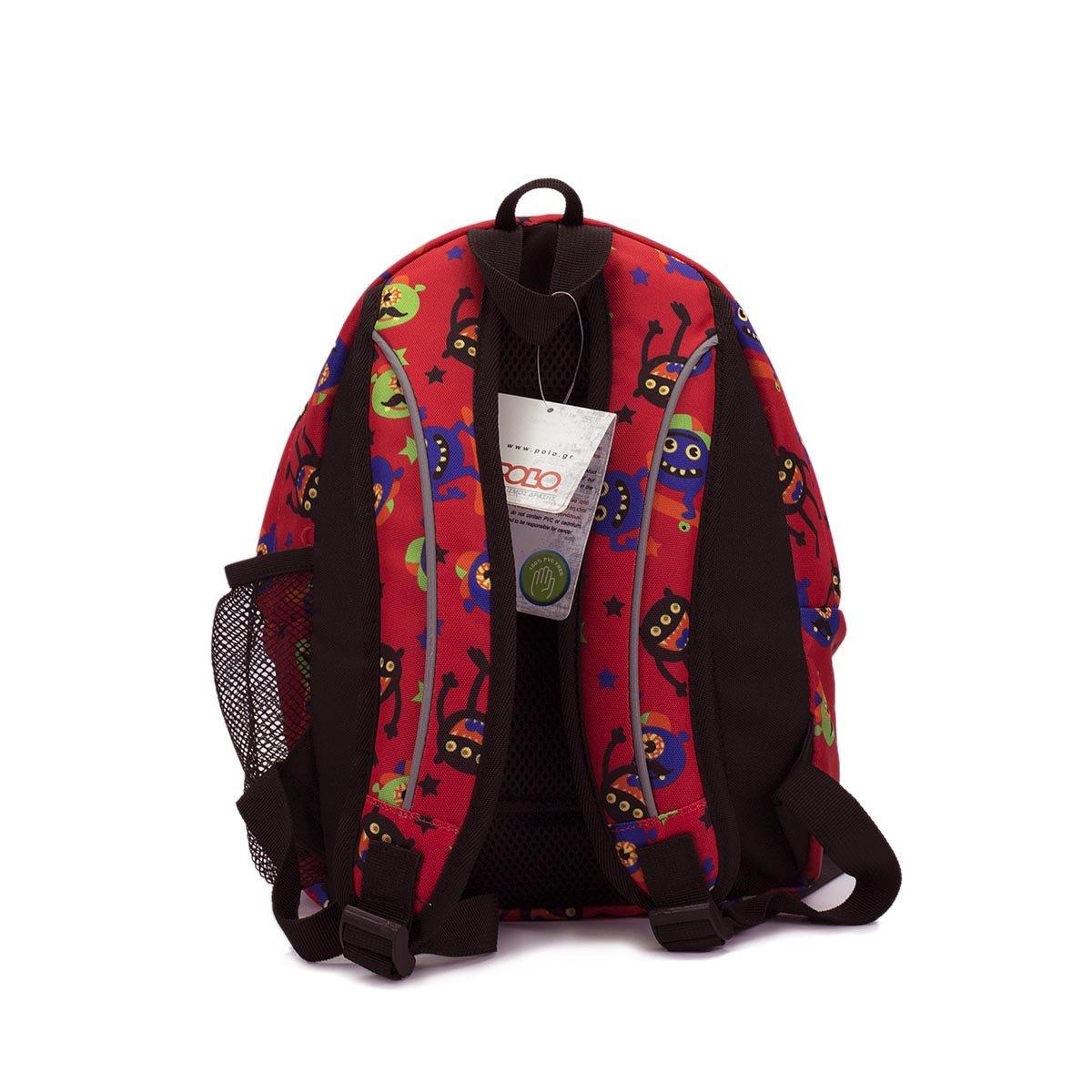 99025351bee Σχολικό Σακίδιο Πλάτης Νηπιαγωγείου Polo Backpack Mini 9-01-067-63 Κόκκινο