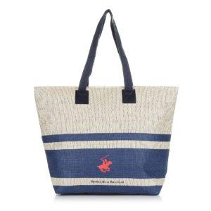 d2b6bd7585 Επώνυμες και εκκεντρικές τσάντες θαλάσσης του διάσημου brand Polo Beverly  Hills από βαμβακερό ύφασμα ή ψάθα και μοναδικές τιμές από 15€ !