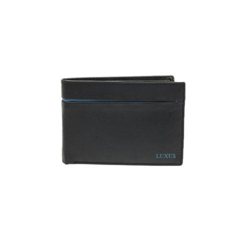 Luxus 8334 Μαύρο Πορτοφόλι Ανδρικό Δερμάτινο