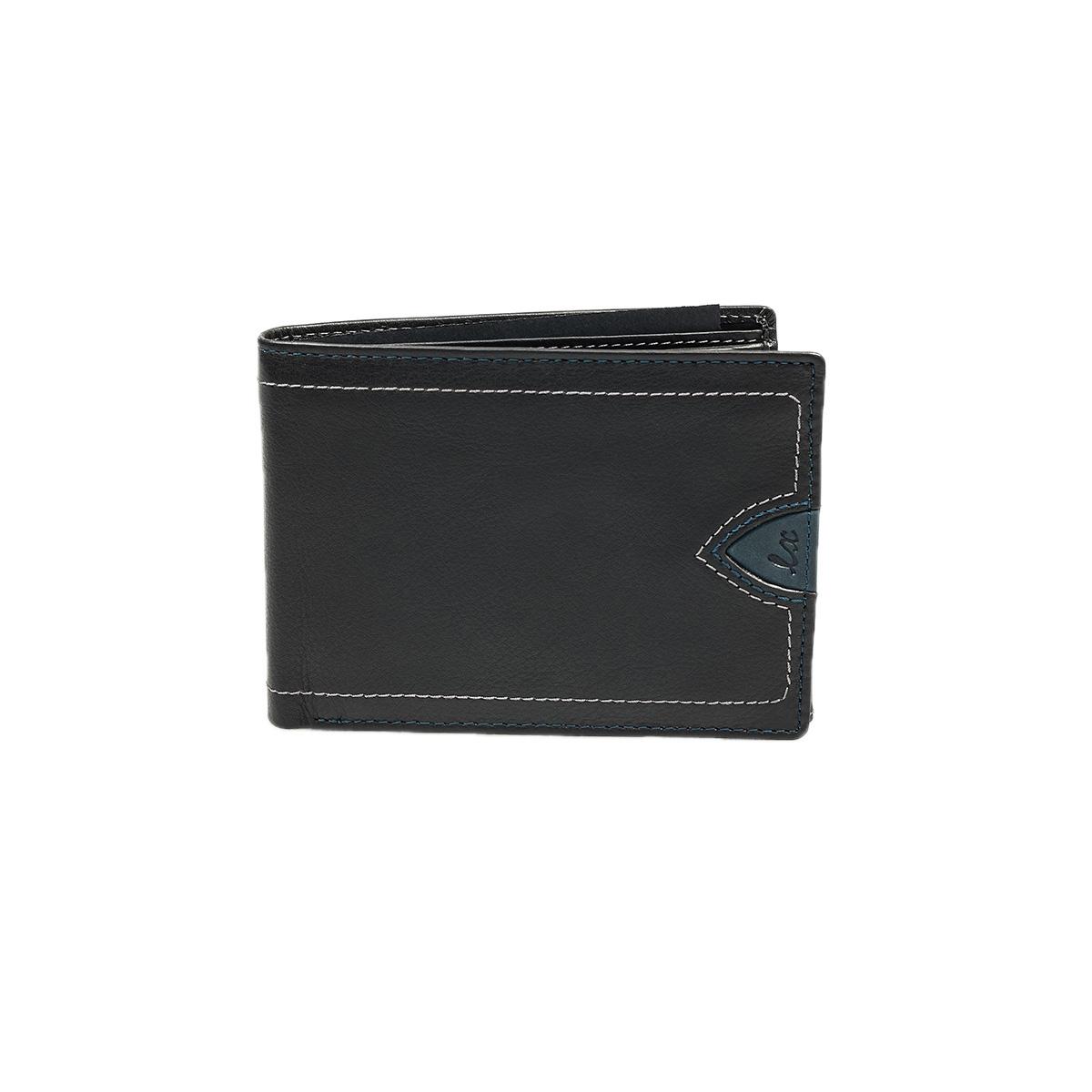 Luxus 8340 Μαύρο Πορτοφόλι Ανδρικό - Κούμπωμα