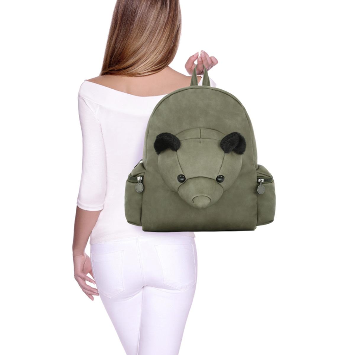 5fea8e98392 Σακίδιο Πλάτης Le Pandorine Bear Backpack Esempio DCG02276 Χακί ...