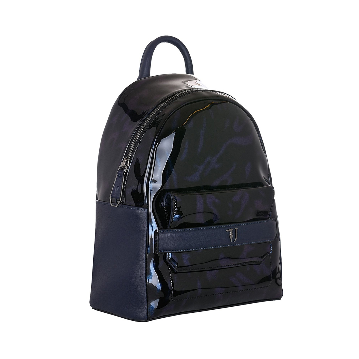 aebf8a74089 Σακίδιο Πλάτης Trussardi Jeans Paprica Backpack Patent Ecoleather 75B00557  Μπλε-Μοβ