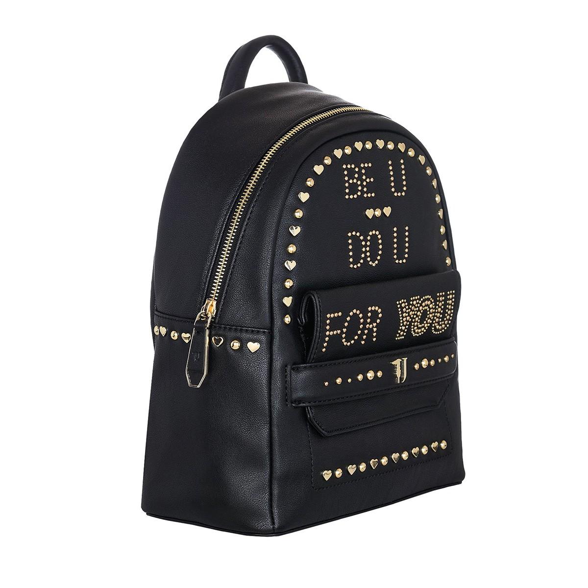 8bbd1cce15 Σακίδιο Πλάτης Trussardi Jeans Studded Paprica Backpack 75B00557-K299 Μαύρο