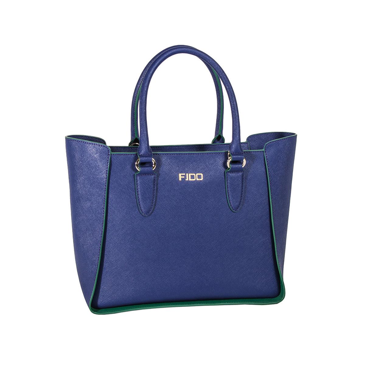 7b9ee8392d Προσφορά Δερμάτινη Τσάντα Χειρός-Tote Λεοπάρ Νεσεσέρ Fido 44-29 Μπλε ...