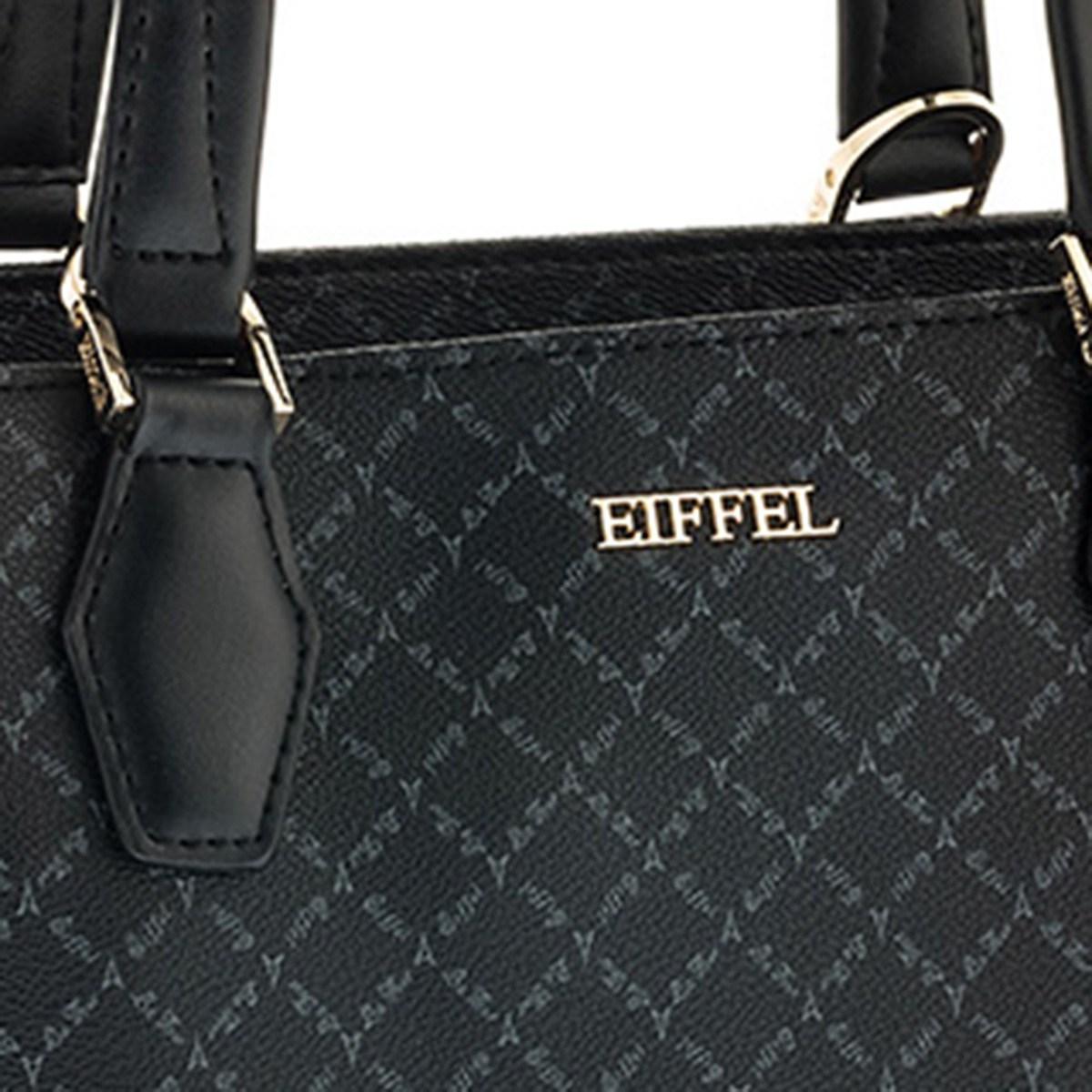 493f7e8e77 Προσφορά Τσάντα Χειρός-Tote La Tour Eiffel Logo-Δέρμα 161016 Μαύρη ...