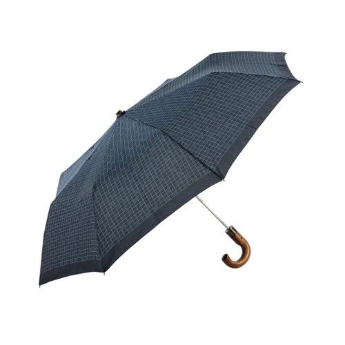 Αντιανεμική, Αυτόματη Ομπρέλα Βροχής Guy Laroche 8101 Καρό Μπλε