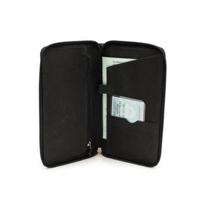 de7e129c73 Δερμάτινη Θήκη Εγγράφων Ταξιδιού BB Travel Wallet 288 Μαύρη
