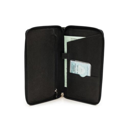 Δερμάτινη Θήκη Εγγράφων Ταξιδιού BB Travel Wallet 288 Μαύρη