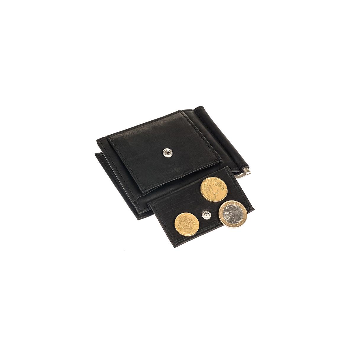 64897f707a Δερμάτινο Πορτοφόλι Με Κλιπ-Έλασμα Χρημάτων BB 38 Μαύρο