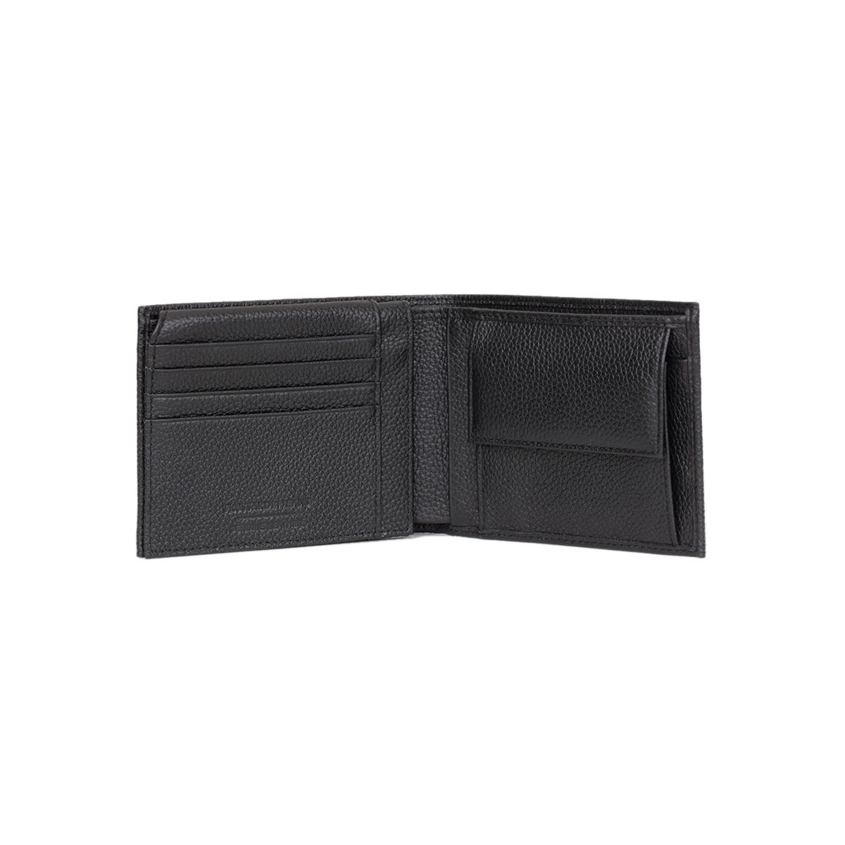 996cf01ea6 Δερμάτινο Πορτοφόλι Μεγάλο Trussardi Jeans Flap Coin Pocket Tumbled  71W00001 Μαύρο