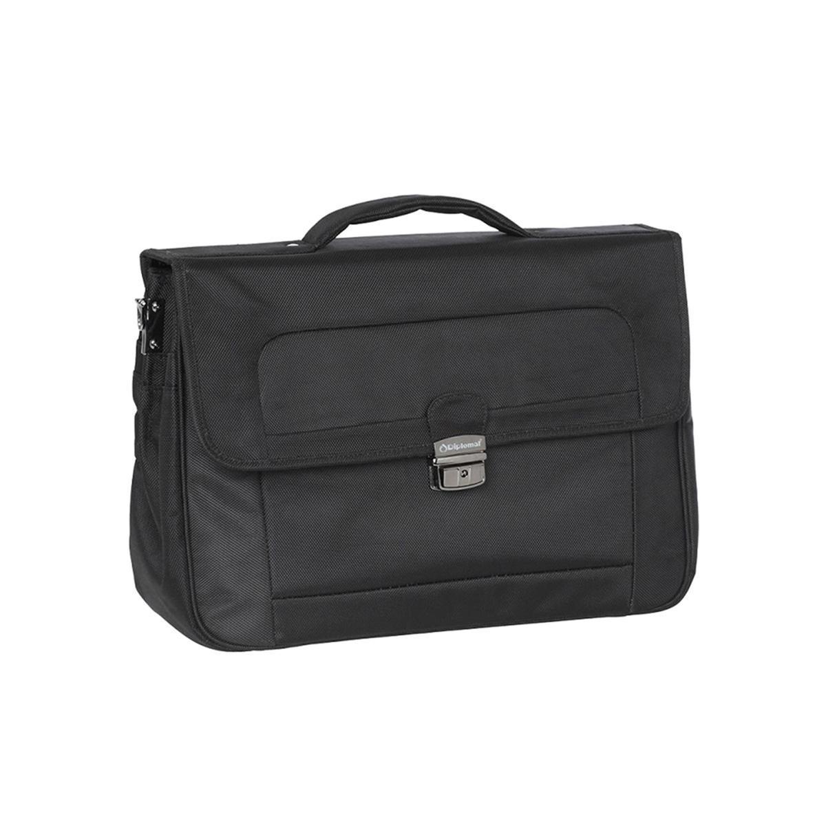 Επαγγελματική Τσάντα Laptop - Χαρτοφύλακας Diplomat 32cm BU103 Μαύρη ... bd1eb4a21f4