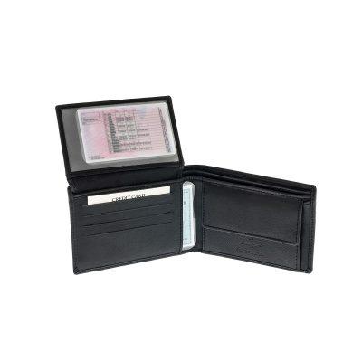 bfdf753d9e Δερμάτινο Πορτοφόλι Μεγάλο Με Φερμουάρ Χαρτονομισμάτων Lavor RFID 7106 Μαύρο