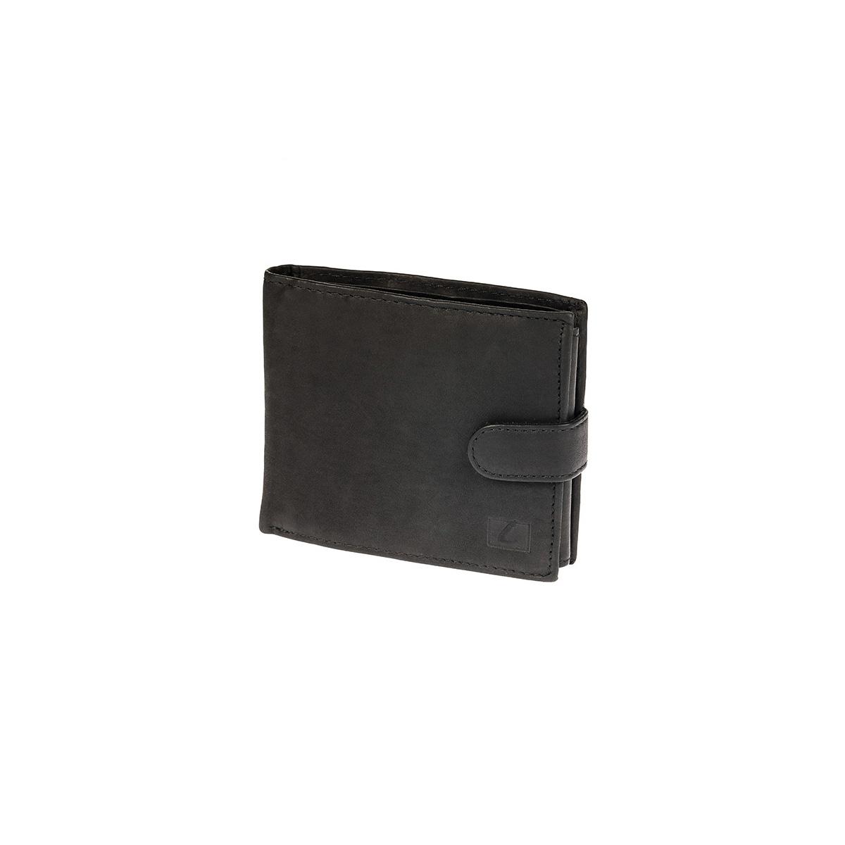 e8a4f64be1 Δερμάτινο Πορτοφόλι Μικρό Με Κούμπωμα Lavor RFID 7128 Μαύρο