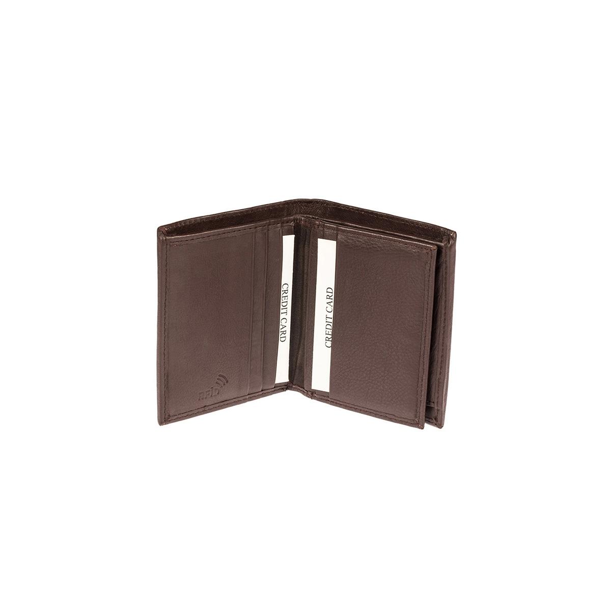 c671a5fe67 Δερμάτινο Πορτοφόλι Μικρό Όρθιο Lavor RFID 7125 Καφέ Σοκολατί ...