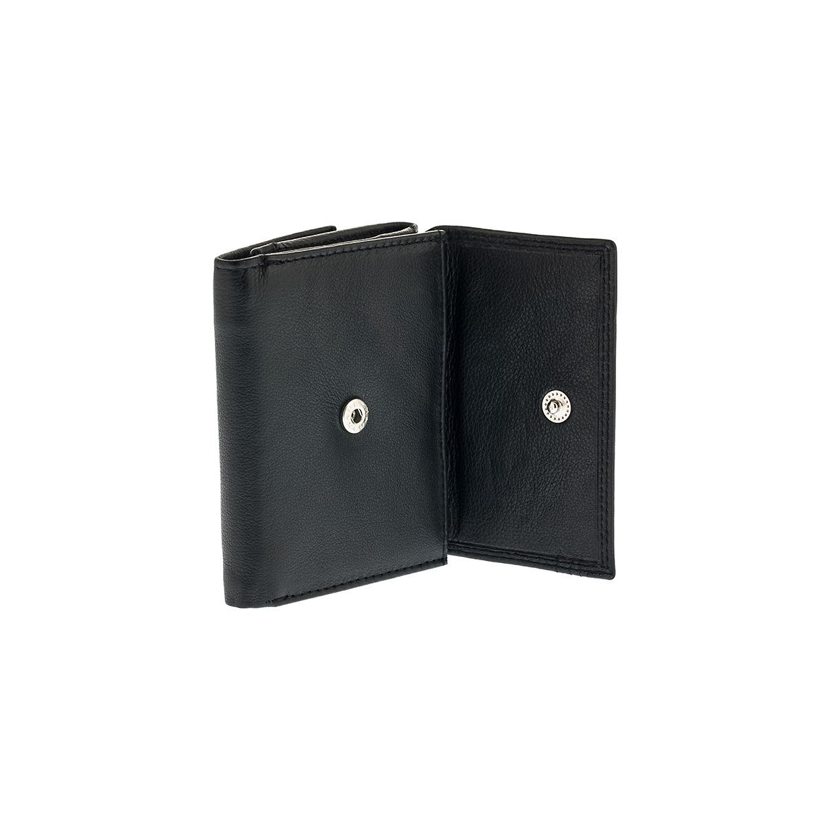 02755d03fd Δερμάτινο Πορτοφόλι Μικρό Με Εξωτερική Θήκη Κερμάτων Lavor RFID 7419 Μαύρο