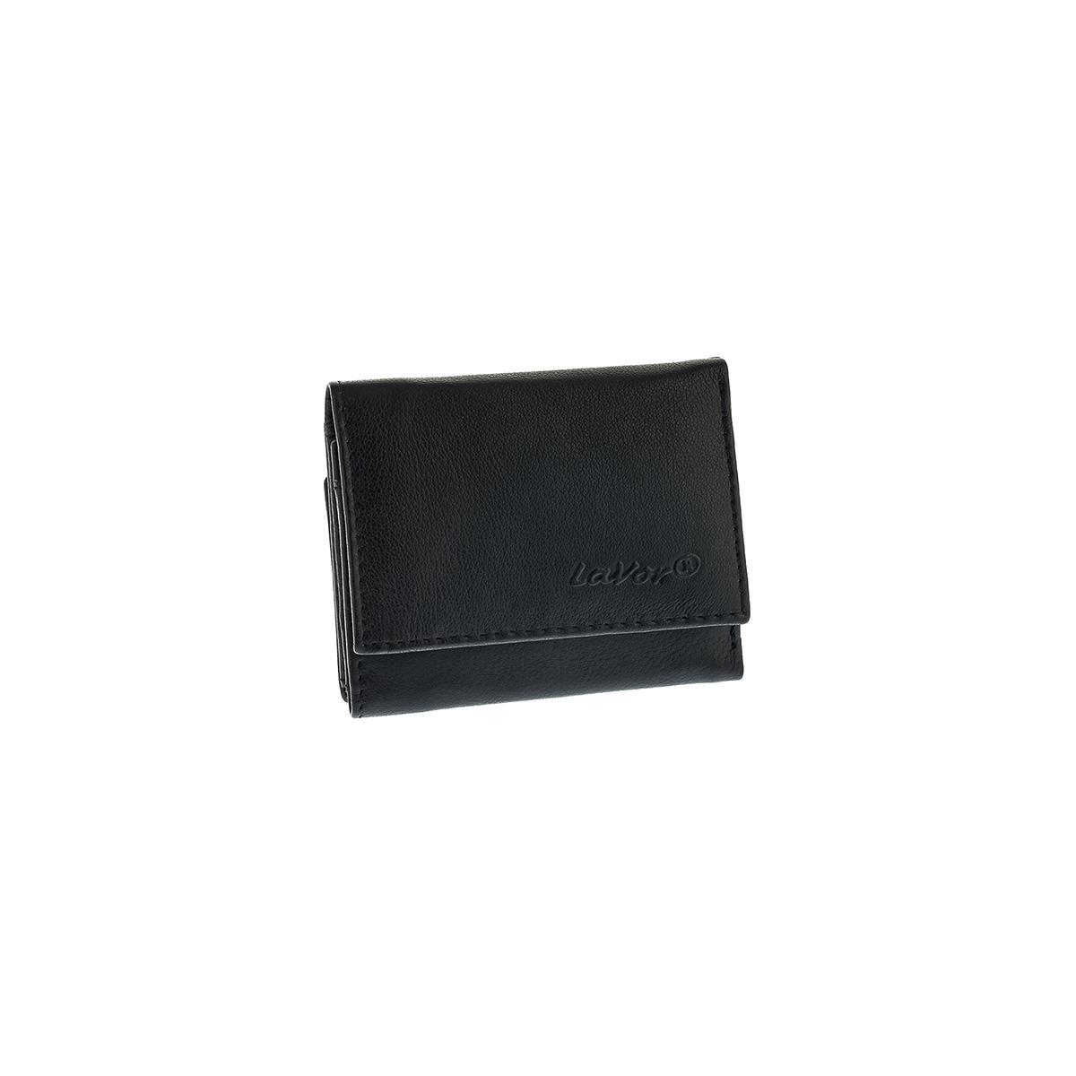 Δερμάτινο Πορτοφόλι Μικρό Με Εξωτερική Θήκη Κερμάτων Lavor RFID 7419 Μαύρο 067b6be7329