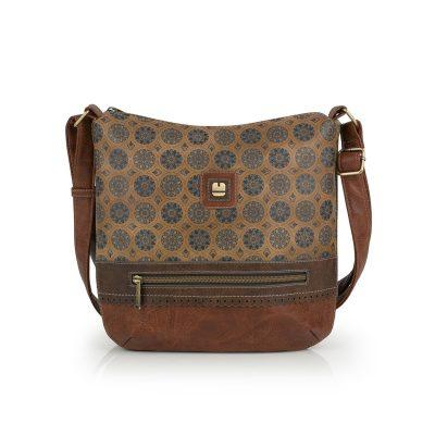 16632b3d32 Τσάντα Ώμου-Χιαστί Με Επέκταση Gabol Janet 26cm 532511 Λαχούρι Καφέ
