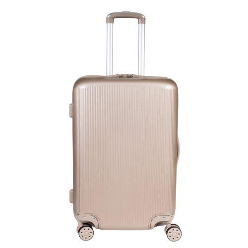Βαλίτσα Μεσαία Σκληρή ABS Με Ποτηροθήκη Forecast A722 Χρυσή
