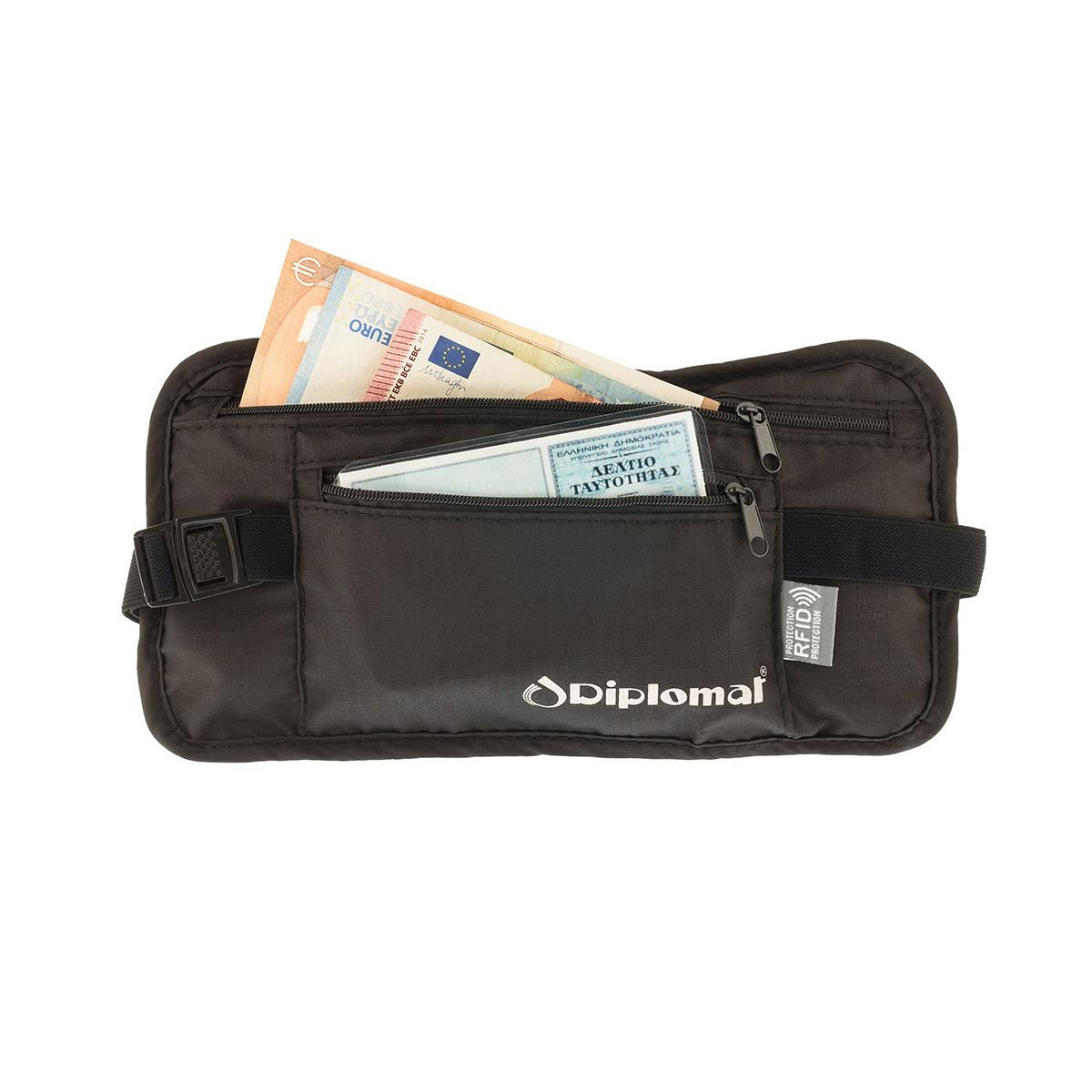 8b752a9a4c Εσωτερικό Τσαντάκι Μέσης Ταξιδιού Εγγράφων-Χρημάτων Με RFID ...