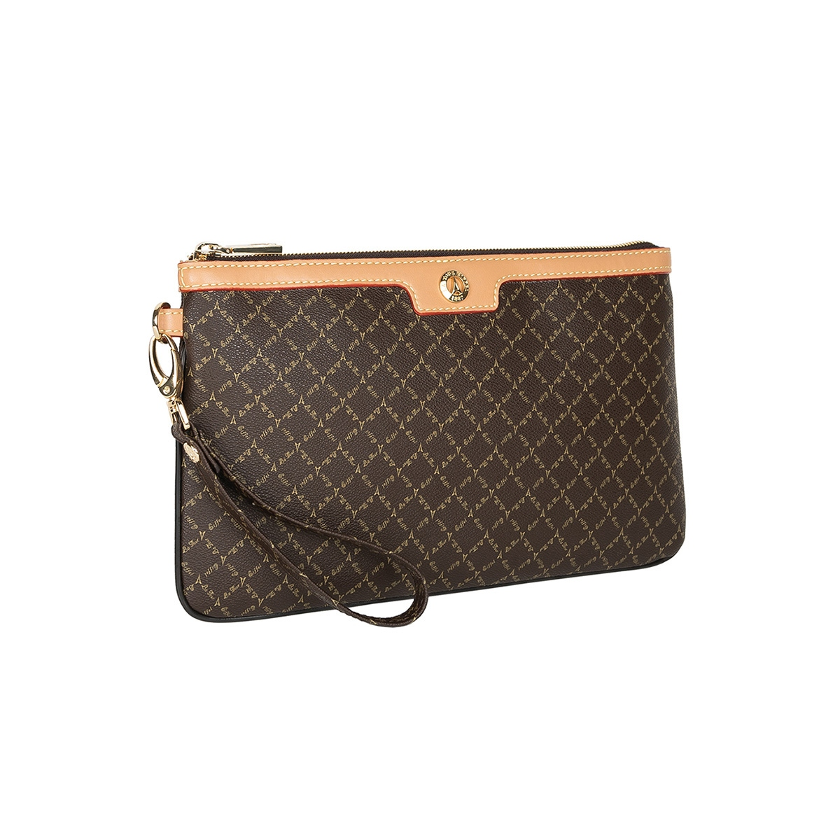 8efe8286bd Τσάντα Φάκελος Με Λαβή La Tour Eiffel Logo-Δέρμα 151006 Καφέ-Μπεζ ...