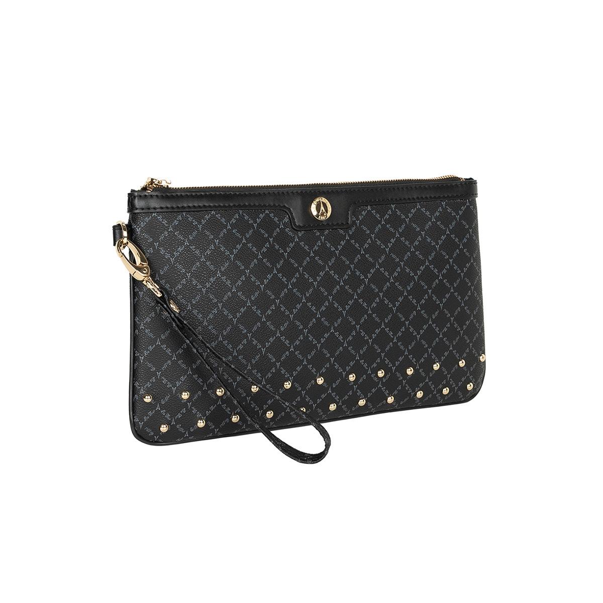 0acf741520 Τσάντα Φάκελος Με Λαβή   Τρούκς La Tour Eiffel Logo-Δέρμα 151006 Μαύρος