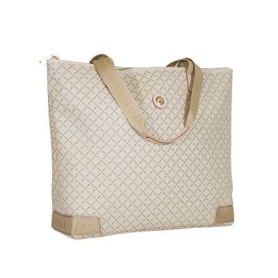 fef336967d Τσάντα Ώμου Ημιεπαγγελματική La Tour Eiffel Logo-Δέρμα 122028 Μπεζ Ανοιχτό
