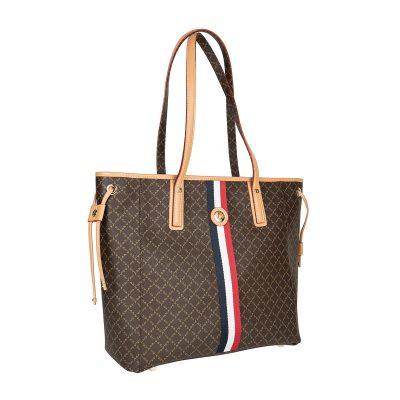 10709052de Τσάντα Ώμου Με Ρίγα La Tour Eiffel Logo-Δέρμα 151006 Καφέ-Μόκα