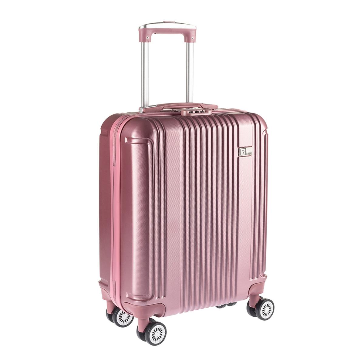 0dd3998f19 Βαλίτσα Καμπίνας Σκληρή ABS 4 Ρόδες Rain RB9028C Ροζ