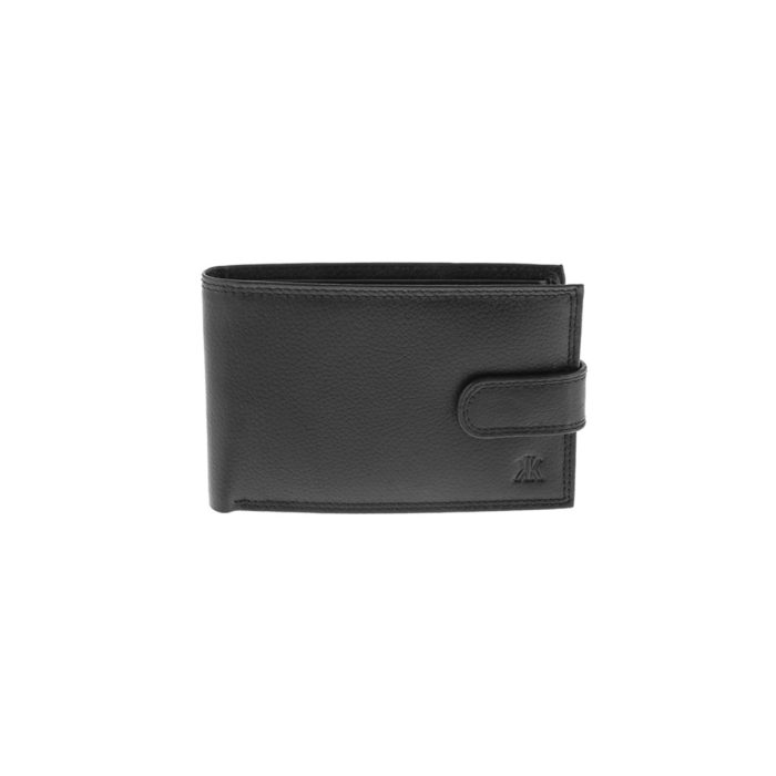Kappa 960 Μαύρο Πορτοφόλι Ανδρικό με Κούμπωμα
