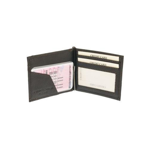 Kappa 1470 Μαύρο Πορτοφόλι με Κλιπ-Έλασμα