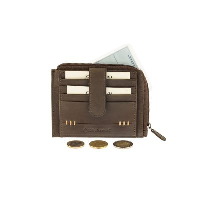 e4ff913c03 Δερμάτινη Καρτοθήκη – Πορτοφόλι Με 11 Θήκες Καρτών   Κούμπωμα Diplomat  MN422 Καφέ