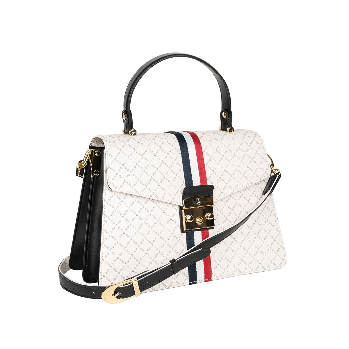 378b85e75b Τσάντα Ώμου-Χειρός Με Ρίγα La Tour Eiffel Logo-Δέρμα 171033 Λευκή ...