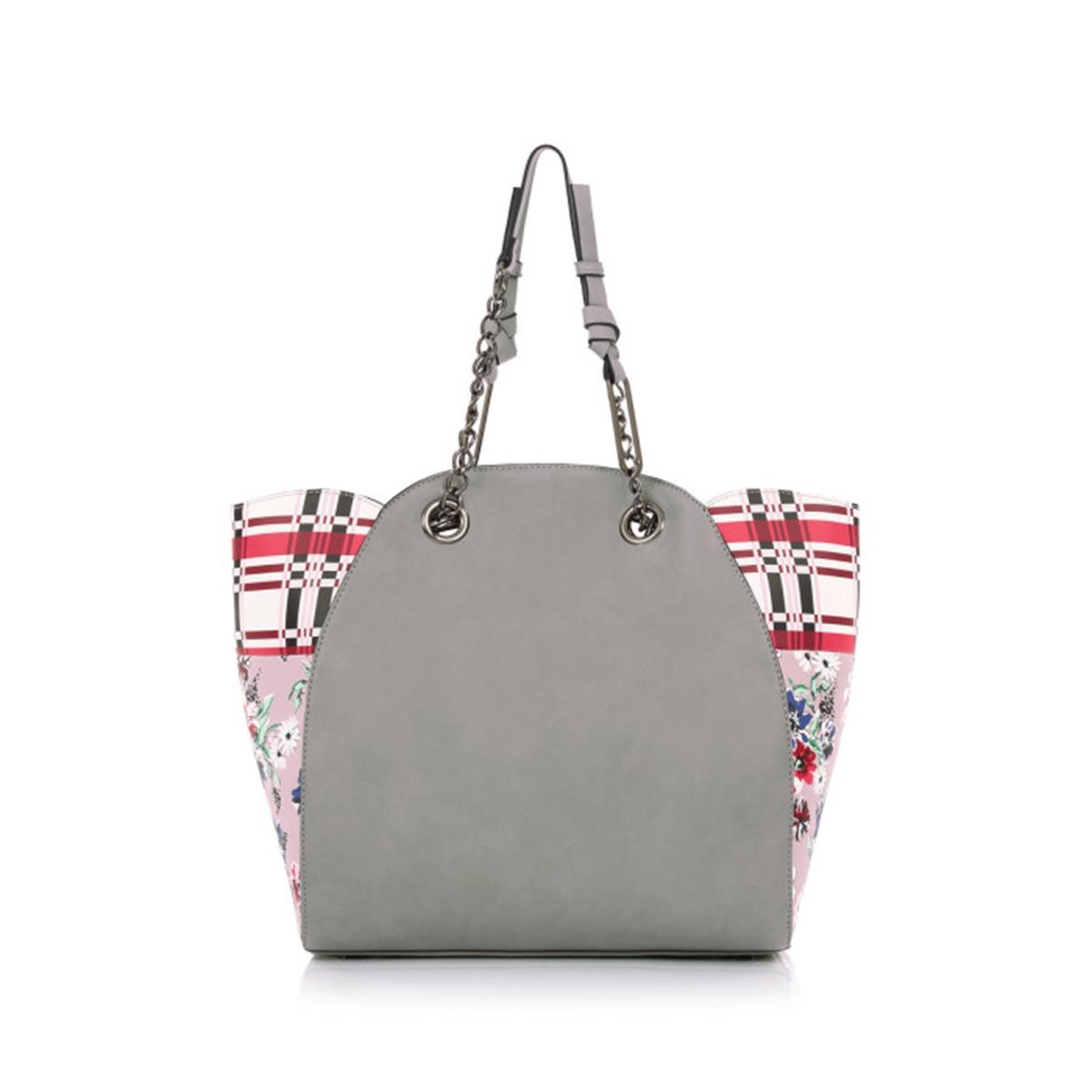 61fae86525e Τσάντα Ώμου Με Αλυσίδα Le Pandorine Classic Istruzioni DBG02332 Γκρι