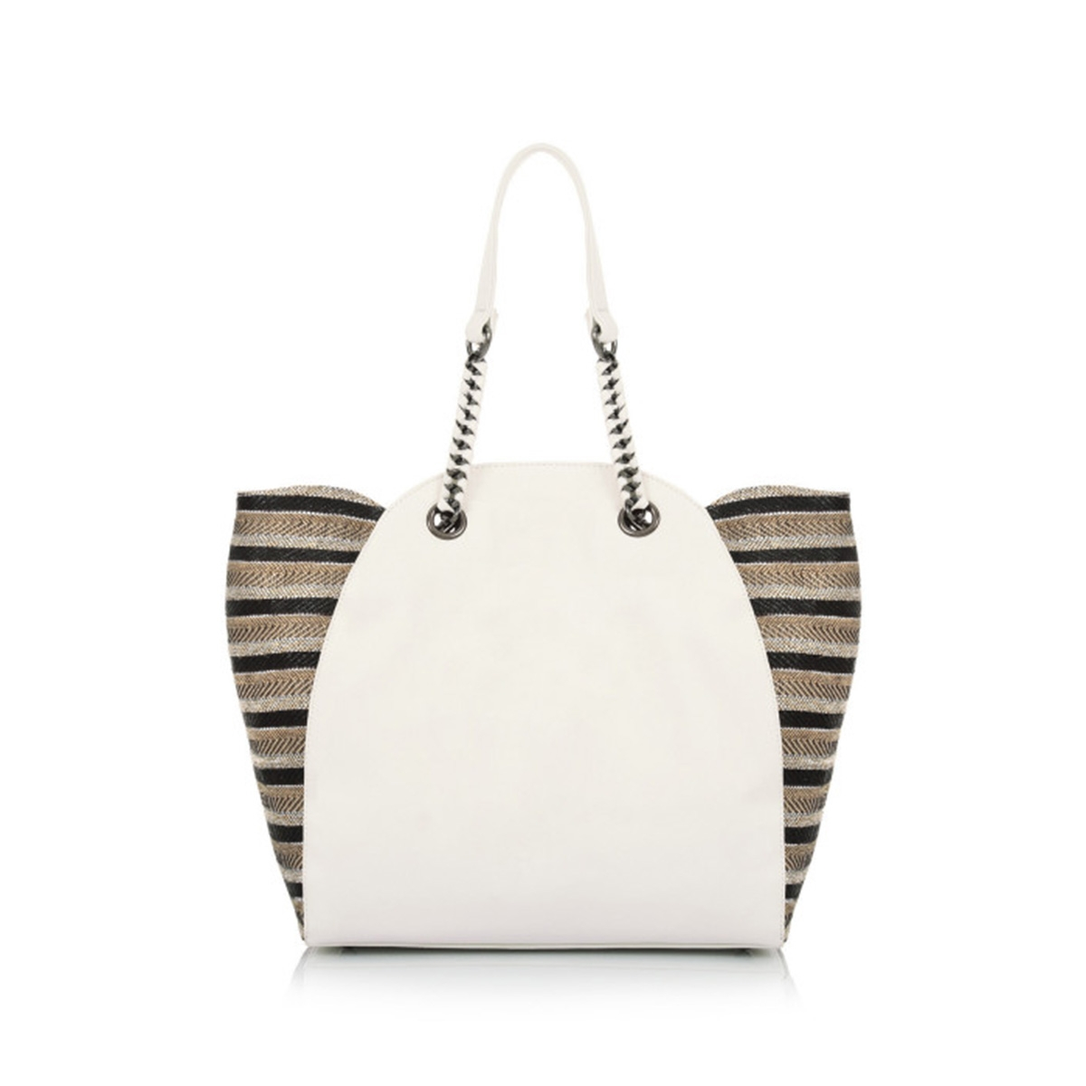 ecb622b3b7 Τσάντα Ώμου Με Αλυσίδα Le Pandorine Classic Sinceri DBG02332 Λευκή ...