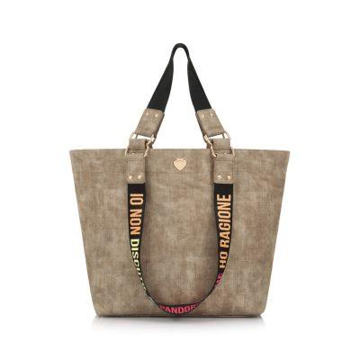 546adaf9a0 Τσάντα Ώμου Le Pandorine Shopper Goodyear Ragione DAI02308 Μπεζ