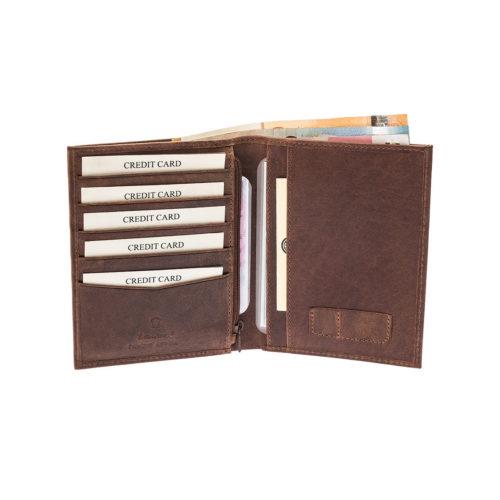 Lavor 3311 Καφέ Δερμάτινο Πορτοφόλι Διαβατηρίου