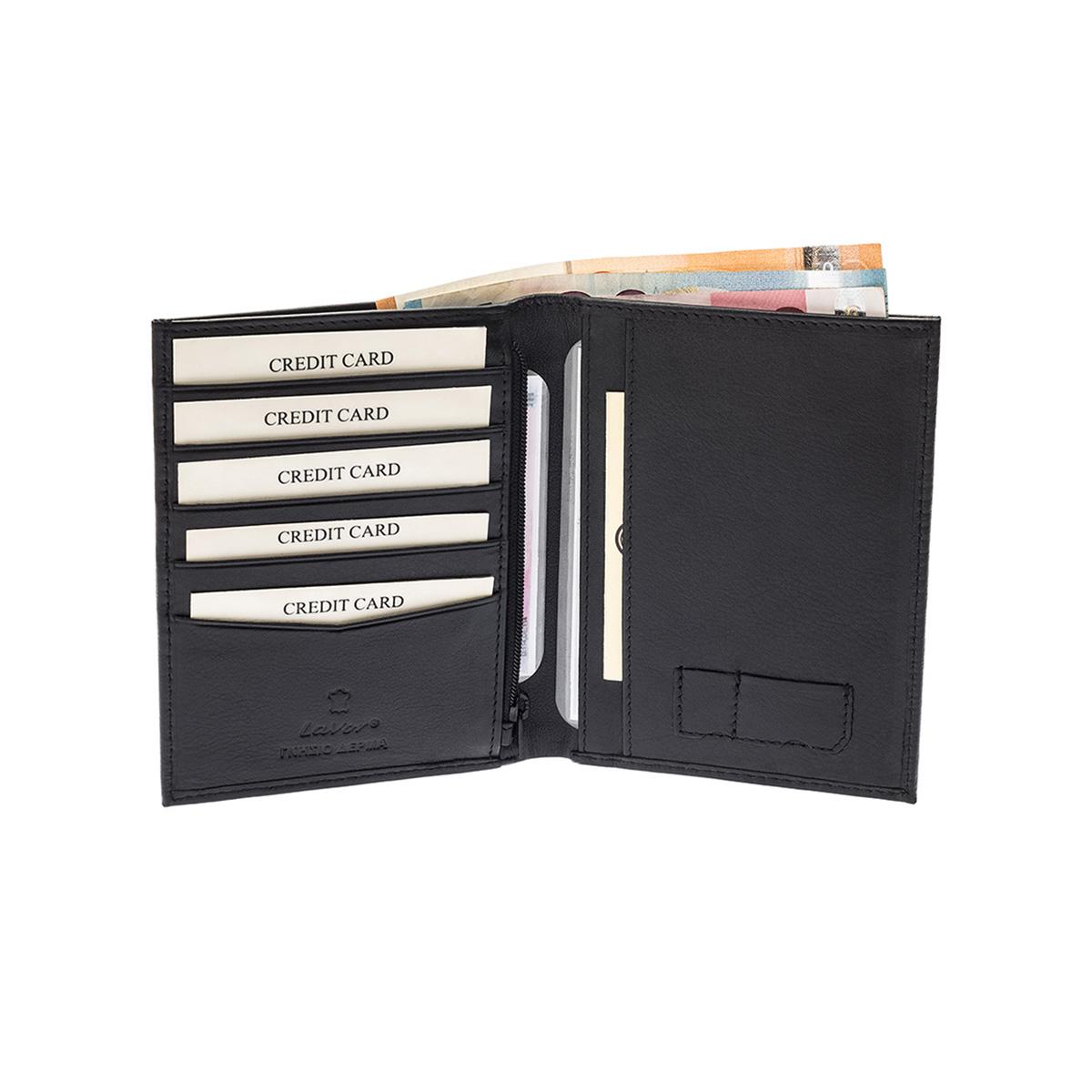 LAVOR 3311 Μαύρο Πορτοφόλι Ταυτότητας Διαβατηρίου