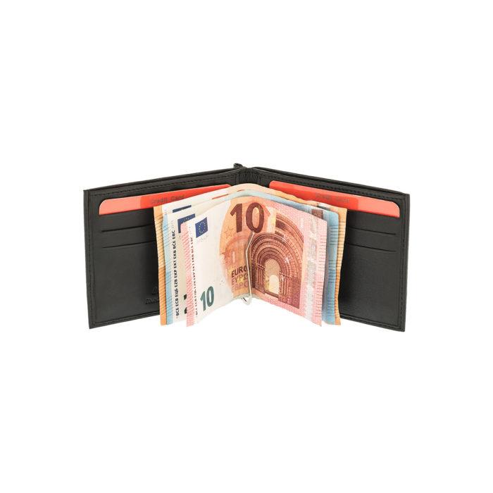 LAVOR 7409 Μαύρο Πορτοφόλι με Έλασμα-Κλιπ