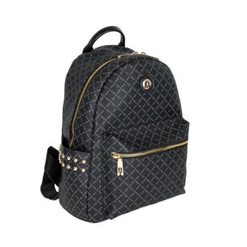 La Tour Eiffel Τσάντα Backpack 171-181046 Μαύρο Collection Logo-Δέρμα La Tour Eiffel θεσσαλονίκη
