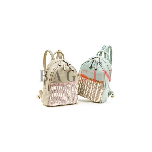 Σακίδιο Πλάτης Δίχωρο Με Πλεκτό Σχέδιο Verde Backpack 16-5516