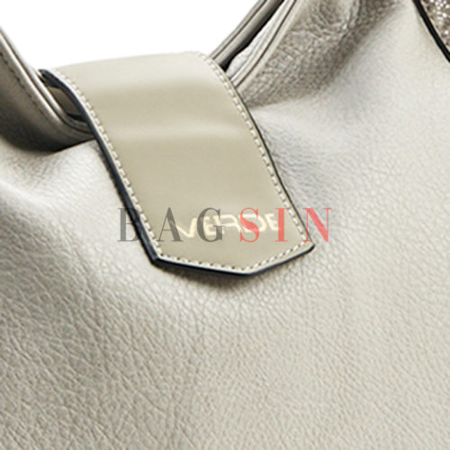 Τσάντα Ώμου Hobo Verde 16-5549 Γκρι-Λευκή