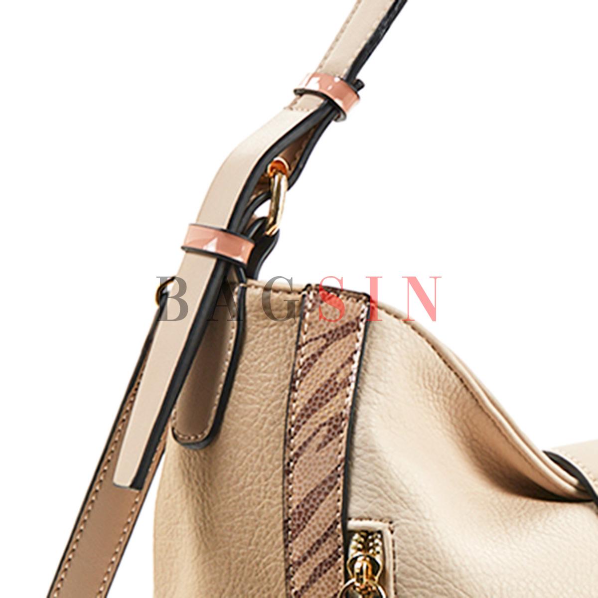 Τσάντα Ώμου Hobo Verde 16-5549 Μπεζ-Ροζ