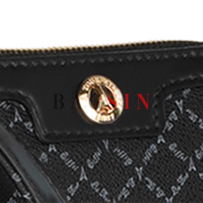 Τσάντα Ώμου – Φάκελος Με Λαβή La Tour Eiffel Logo 171-151006 Μαύρη