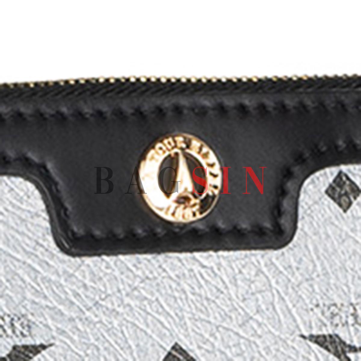 Τσάντα Ώμου – Φάκελος Με Λαβή La Tour Eiffel Monogram 36-151006 Ασημί-Μαύρη