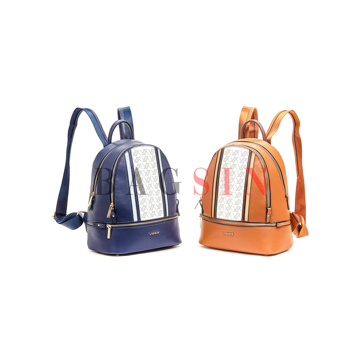 Σακίδιο Πλάτης Δίχωρο Με Διάτρητο Λογότυπο Verde Backpack 16-6013