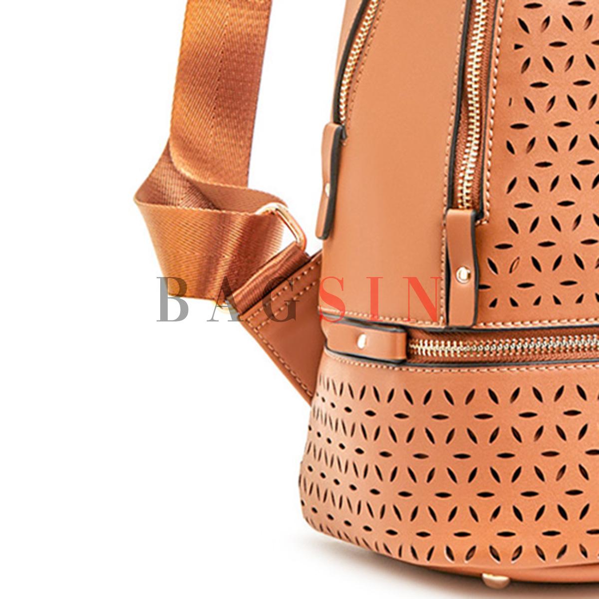 Σακίδιο Πλάτης Δίχωρο Verde Backpack 16-5929 Διάτρητο Ταμπά