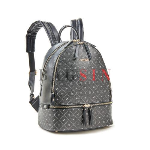 Σακίδιο Πλάτης Δίχωρο Με Λογότυπο Verde Backpack 16-6054 Μαύρο