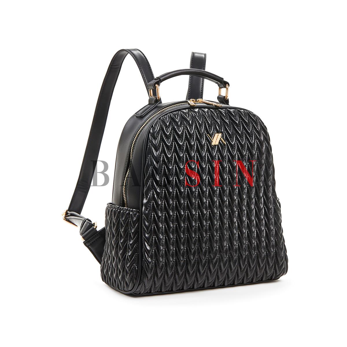 Σακίδιο Πλάτης Καπιτονέ Verde Backpack 16-5853 Μαύρο