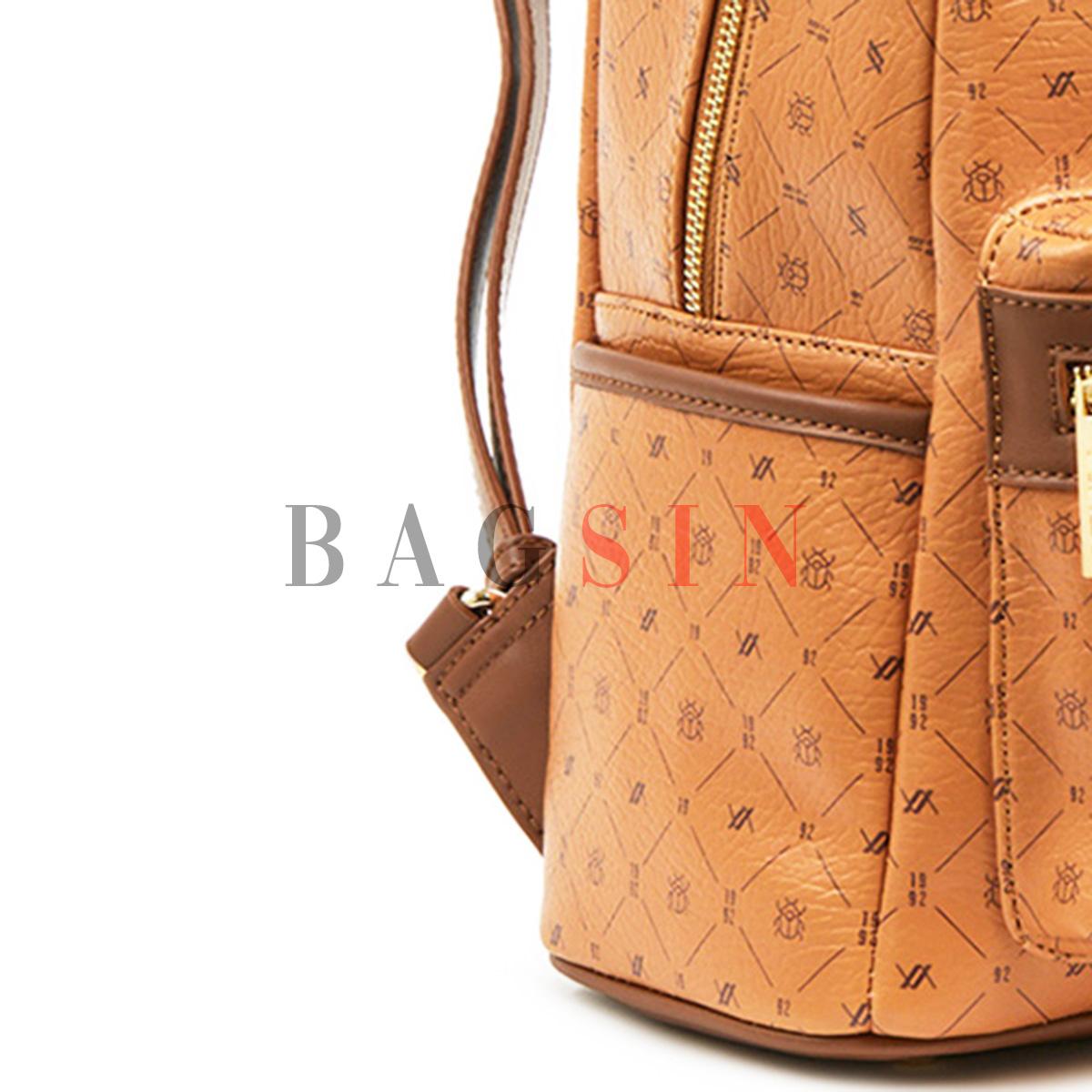 Σακίδιο Πλάτης Με Λογότυπο Verde Backpack 16-6011 Ταμπά-Καφέ