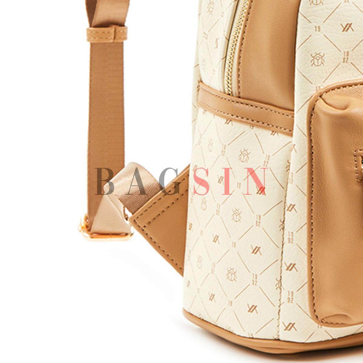 Σακίδιο Πλάτης Με Λογότυπο Verde Backpack 16-6047 Εκρού-Μπεζ